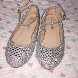 Link Shoes - Girls rhinestone sparkly flats